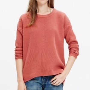 Madewell Bryn Ribbed Pullover Wool Sweater